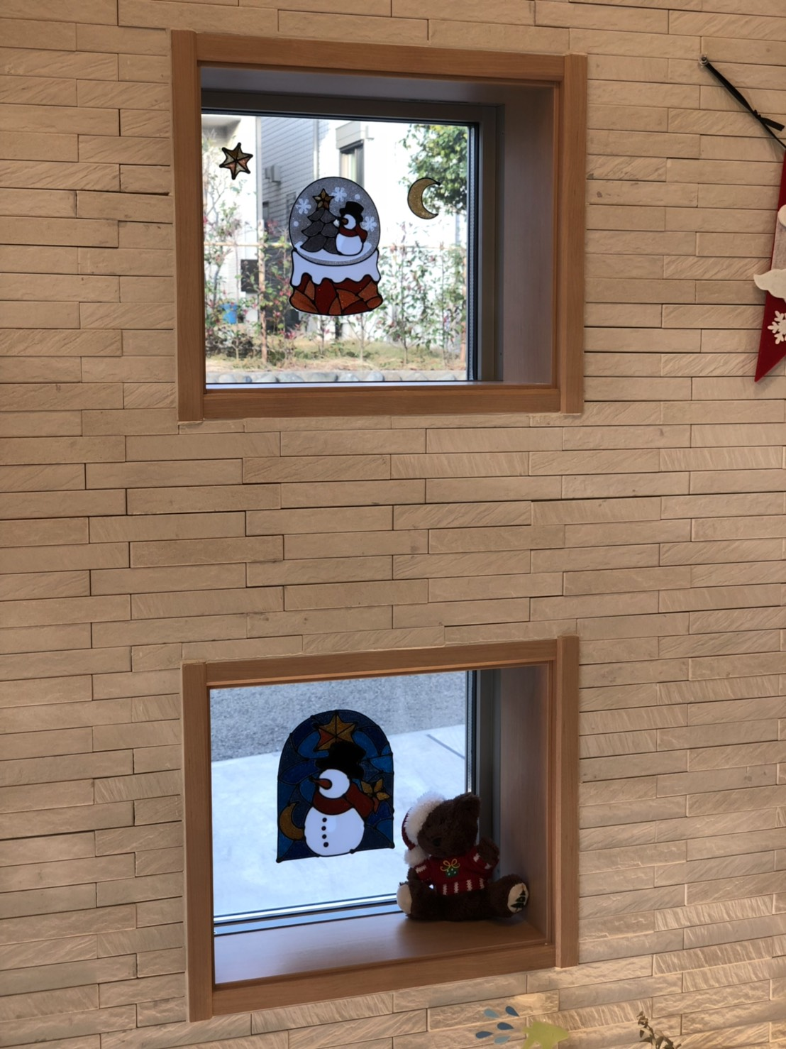 クリスマス 窓装飾2
