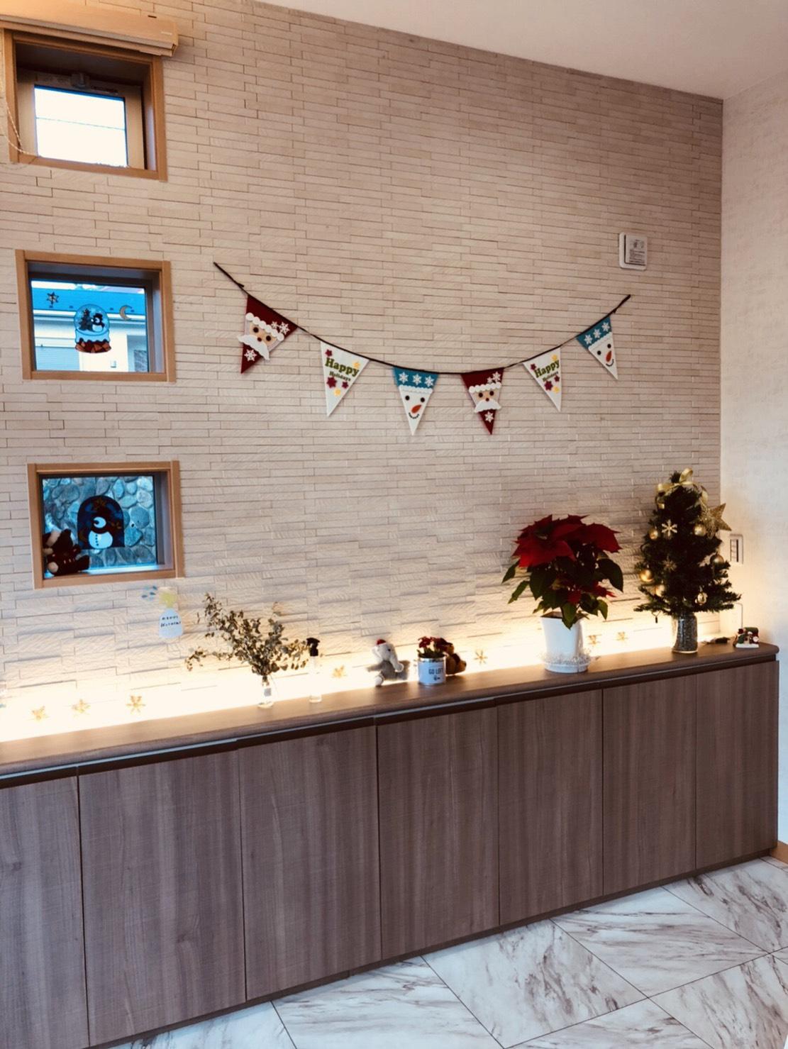 クリスマス カウンター装飾