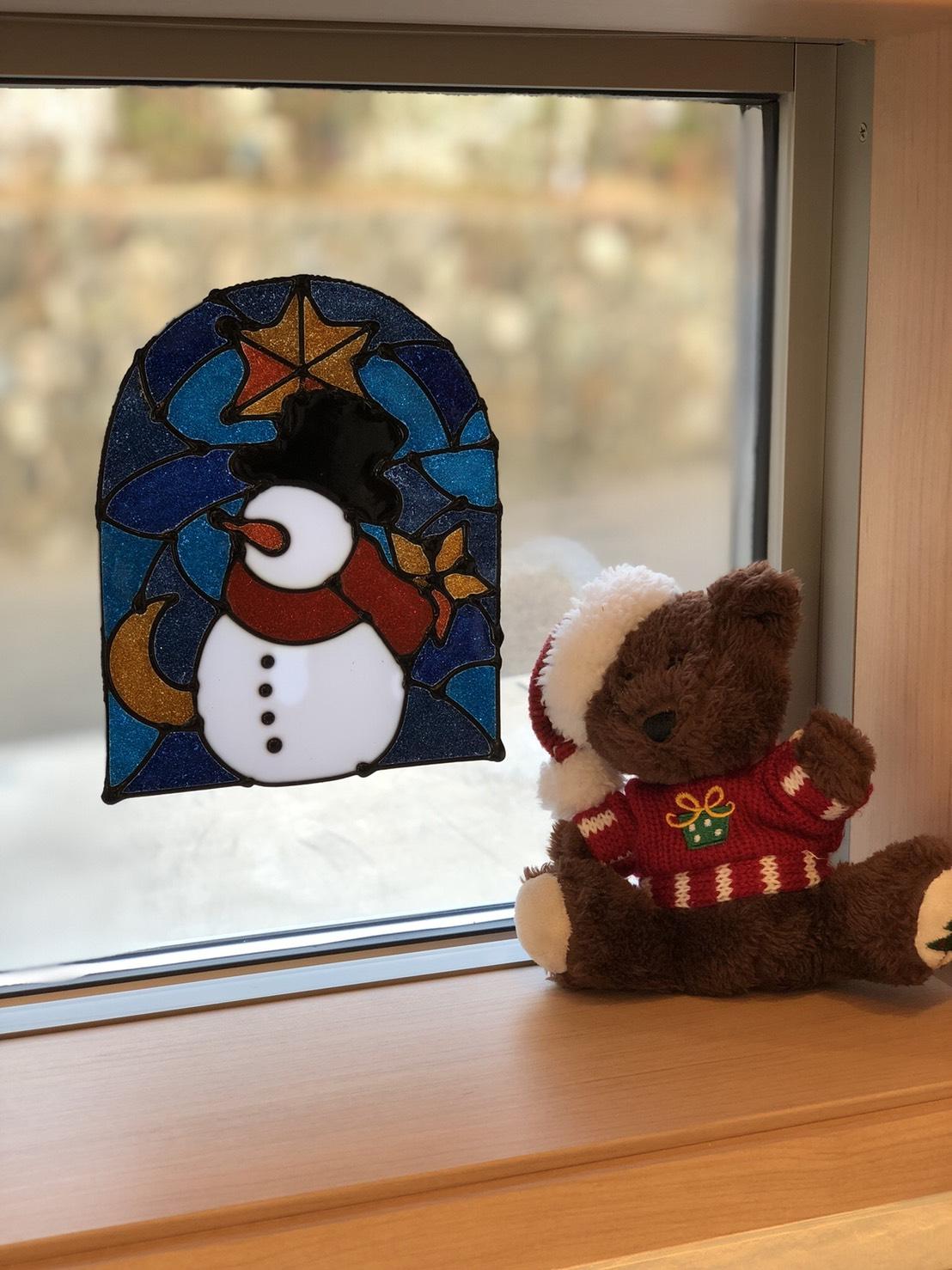 クリスマス 窓装飾