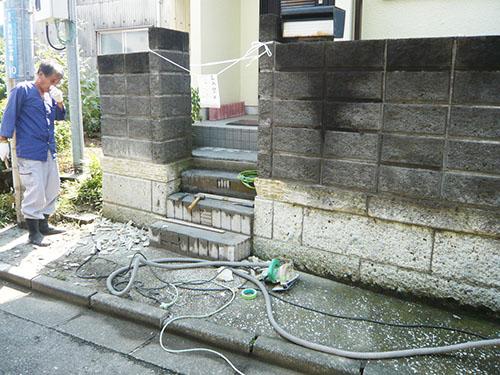 大谷石塀リフォーム