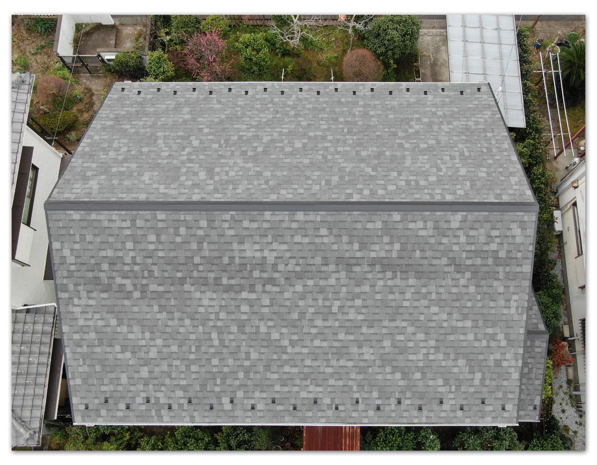 屋根重ね葺き工事(横浜市金沢区O様邸)
