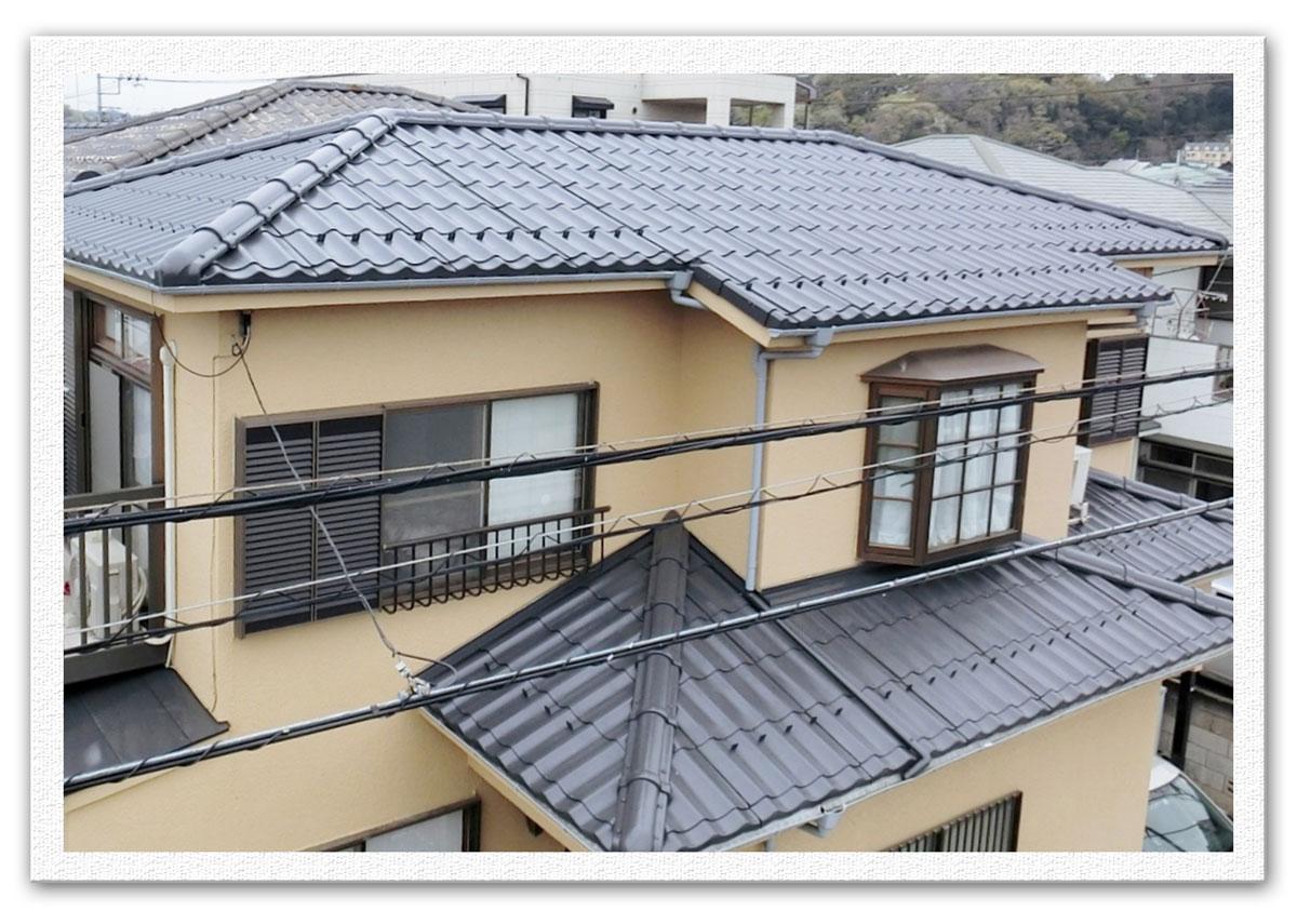屋根塗装工事(横浜市金沢区Y様邸)